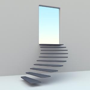 Réussir, c'est comme monter un escalier