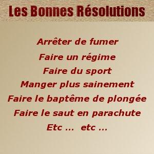 Avez vous pris vos bonnes résolutions pour 2012 ?